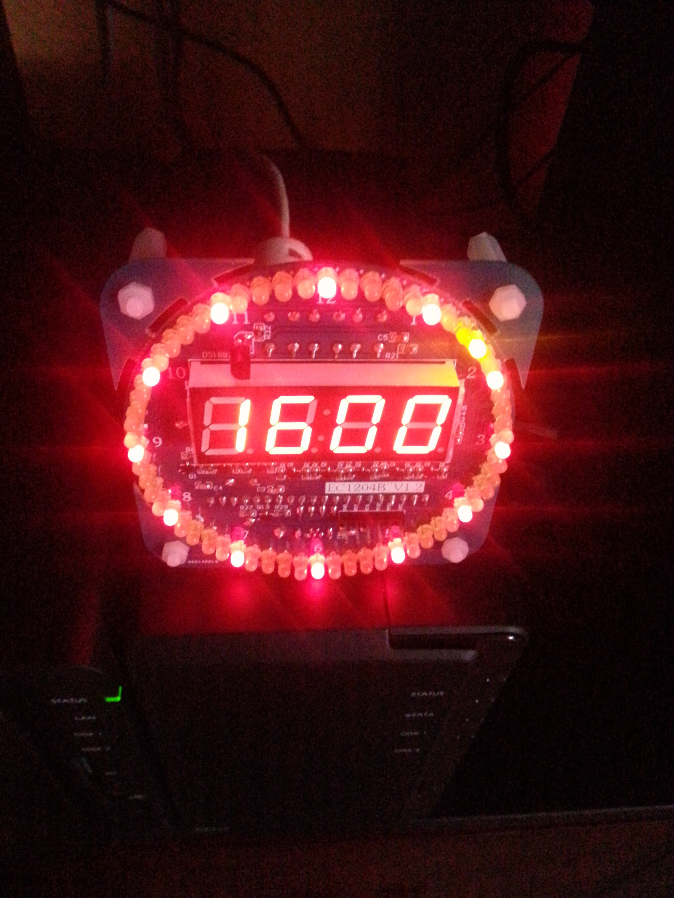 led message clock instructions